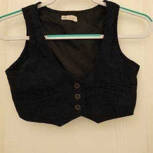 H&M girls black vest